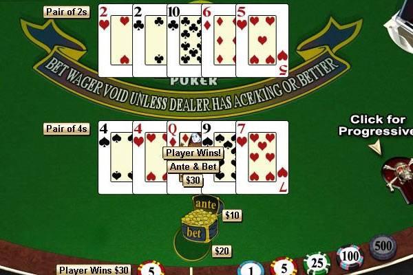 Spin Palace Casino Caribbean Stud Poker