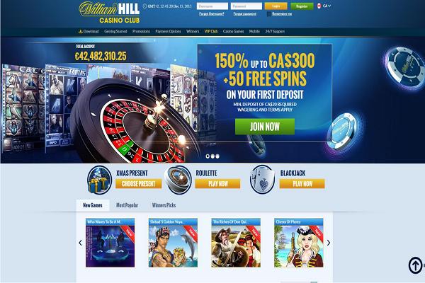 william hill club casino login