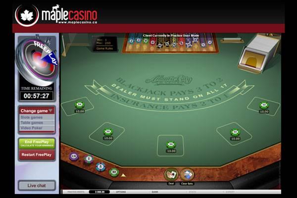 Maple Casino Blackjack