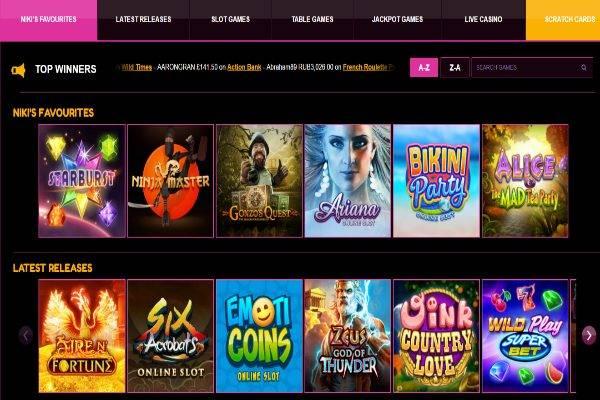 LuckyNiki Casino Games