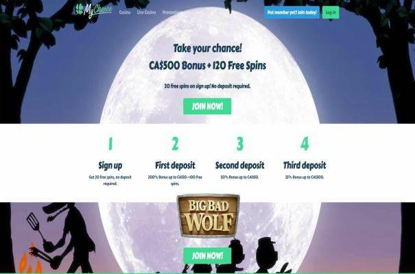 Play with My Chance Casino Bonus
