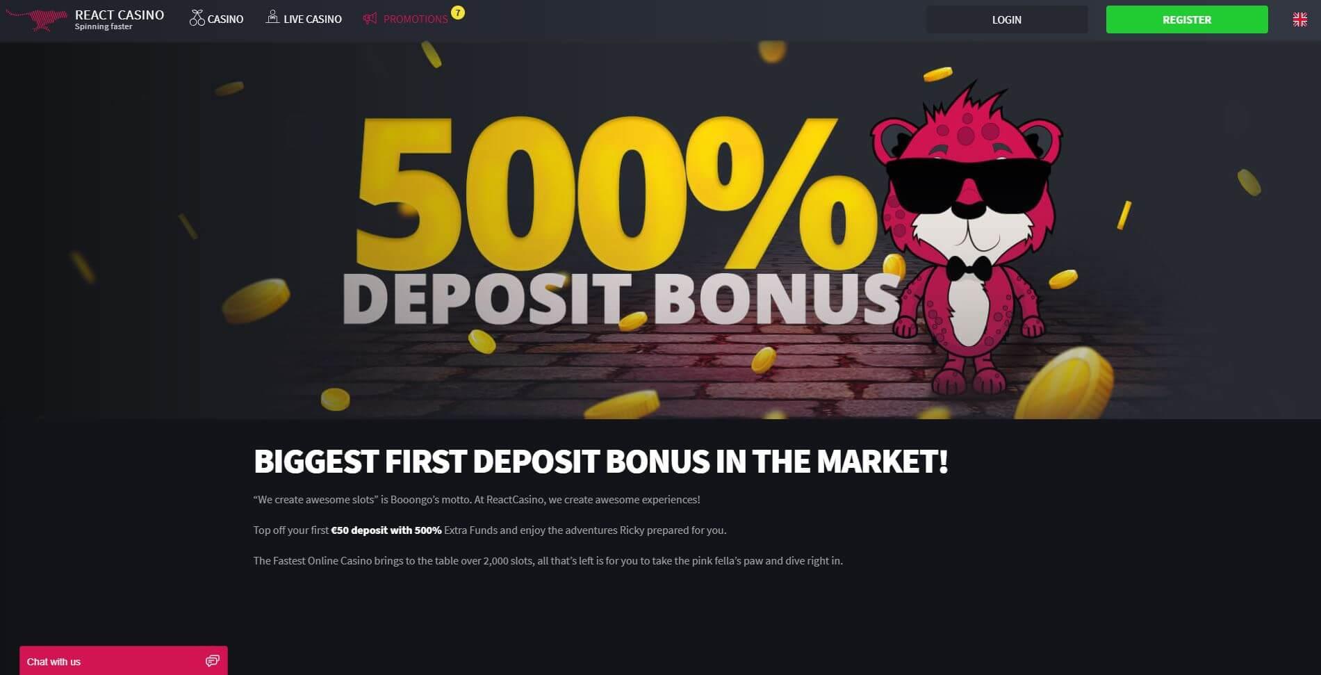 React Casino screenshot