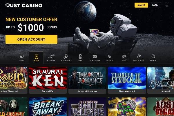 Just Casino Screenshot