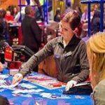 woman casino dealer