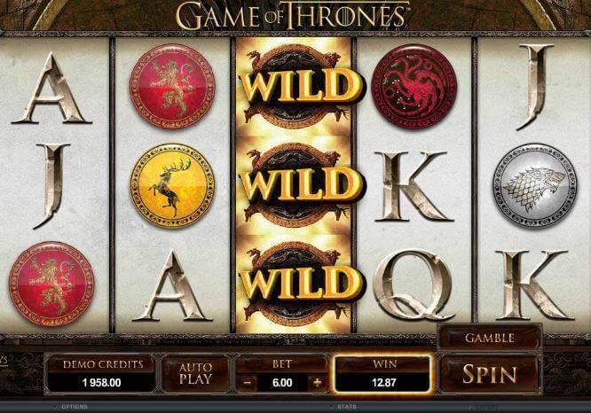 Games of thrones slot games screenshot 1