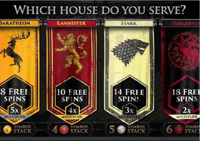 Games of thrones slot games screenshot 2