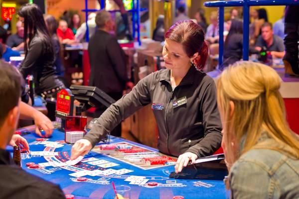 Casino Dealer Table