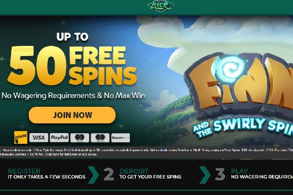 Vegas Luck Screenshot of promotion -online-casinos-canada.ca