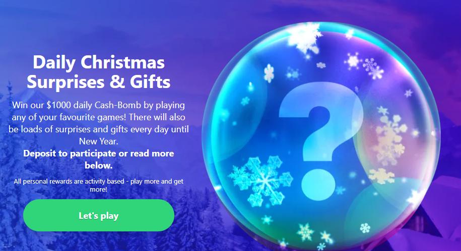 Dreamz Christmas casino promotion