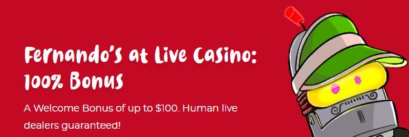 Live Casino Bonus Casoola