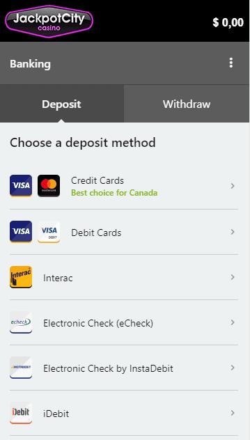 jackpotcity deposit - OCCanada
